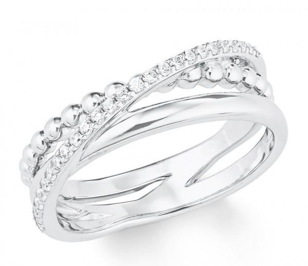 s.Oliver Damen Ring 2022744 Zirkonia Silber