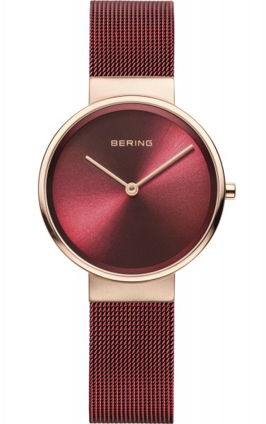 Bering Damen Armbanduhr 14531-363 Classic roségold-rot