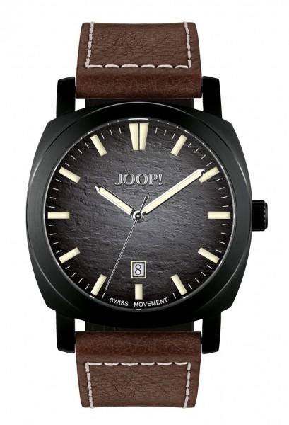 JOOP! Herren Armbanduhr 2027591 schwarz IP Lederband braun