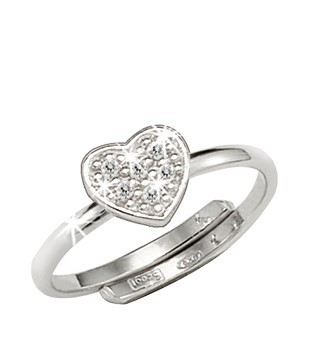 Scout Ring 263013100 Herz Zirkonia Silber 925
