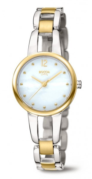 Boccia Damen Armbanduhr 3290-02 Dress bicolor