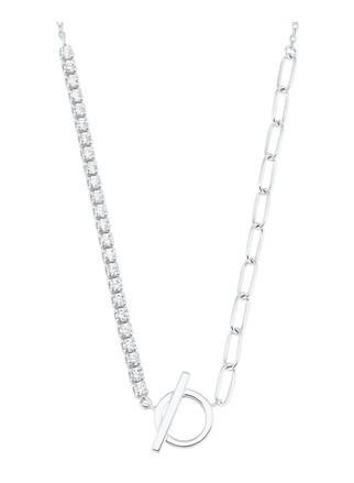 s.Oliver Damen Y-Collier 2028510 Zirkonia Silber