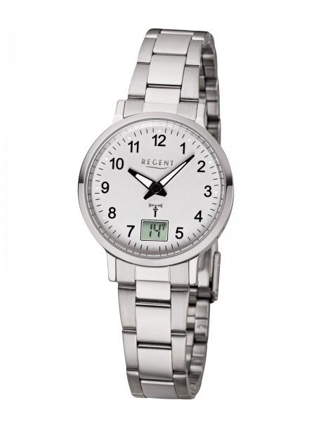 Regent Damen Armbanduhr 3121.44.99 FR-260 Funk Edelstahl