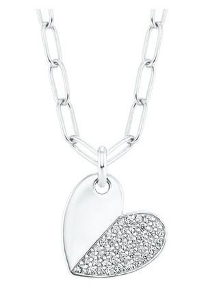 s.Oliver Damen Halskette 2028515 Herz Silber