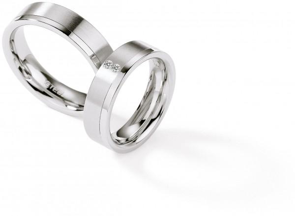 Trauringe 88/01270 Steel Brillant