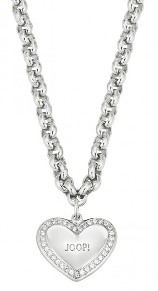 JOOP! Halskette 2024891 Herzanhänger Zirkonia Silber 925