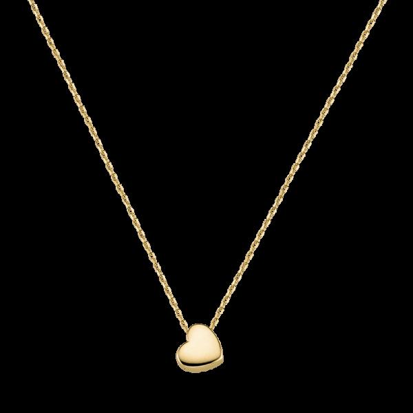 Trends Damen Halskette G3-00178C Herz Gold